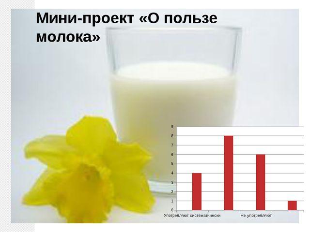 Мини-проект «О пользе молока»