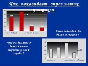 34% 13,3% 8% 11% 47% 26,6% 37,3% 22,6% Что вы думаете о возможности теракта у