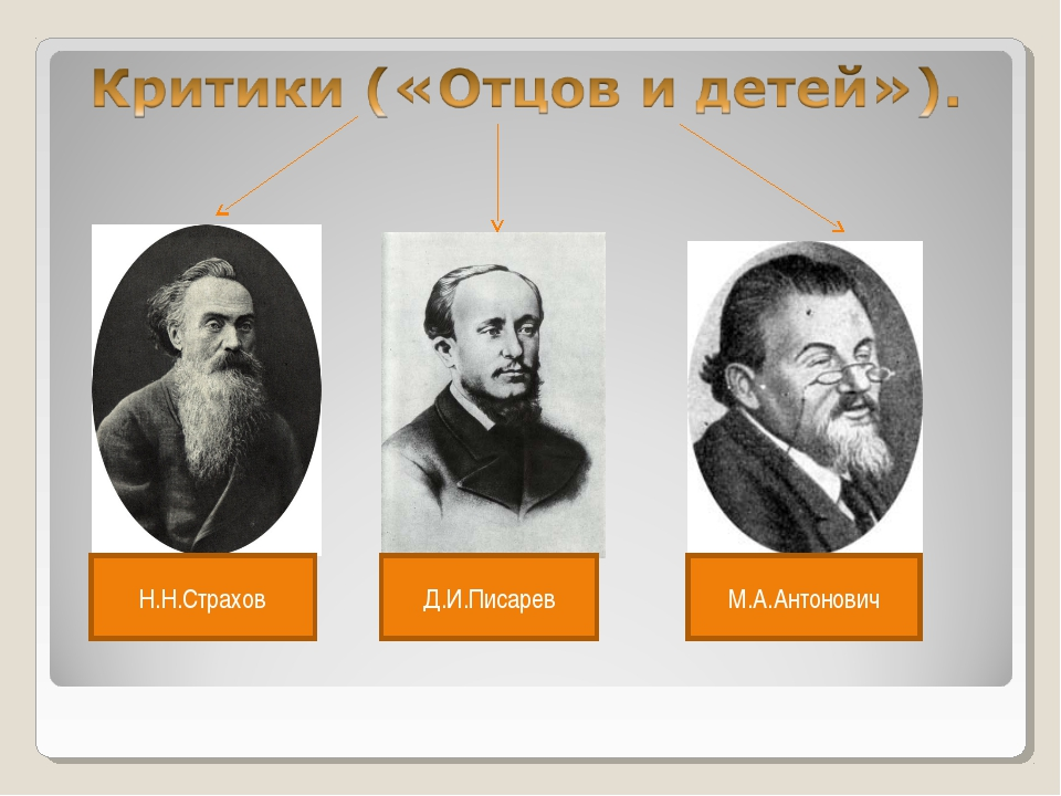 Н.Н.Страхов Д.И.Писарев М.А.Антонович