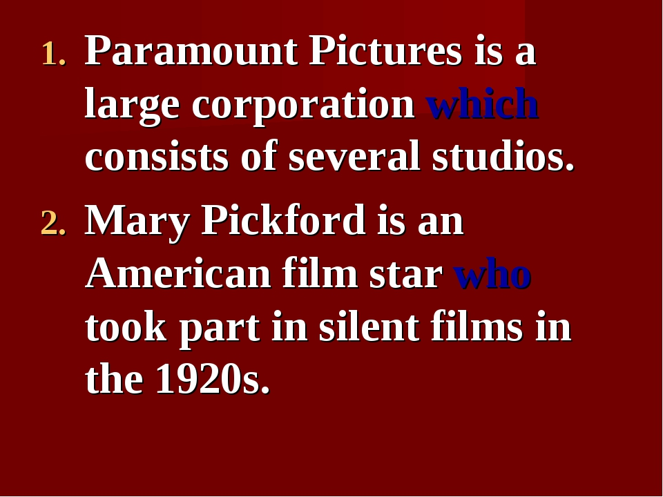 Paramount Pictures is a large corporation which consists of several studios....