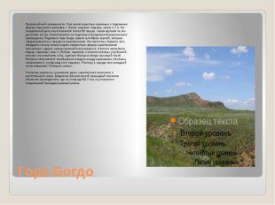 Гора Богдо Гора Большо́е Богдо́ (149,6м над уровнем моря)— самая высокая то