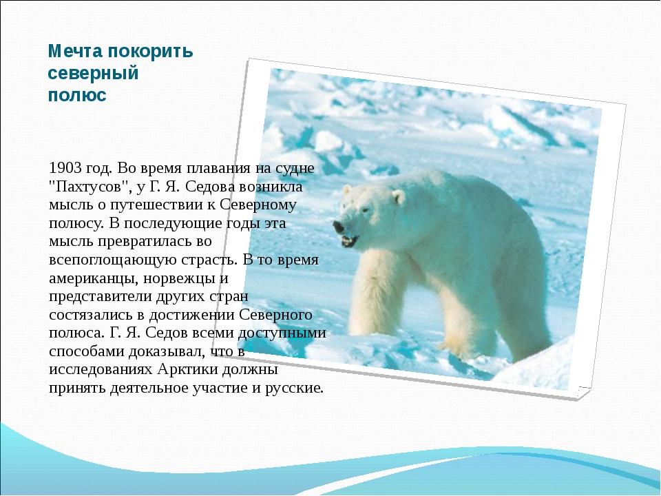 """Мечта покорить северный полюс 1903 год. Во время плавания на судне """"Пахтусов""""..."""