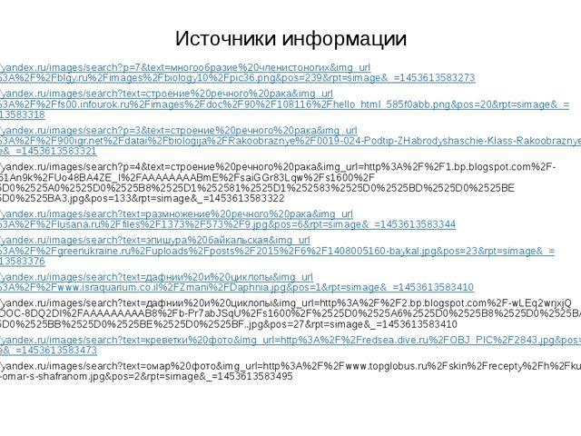 Источники информации https://yandex.ru/images/search?p=7&text=многообразие%20...