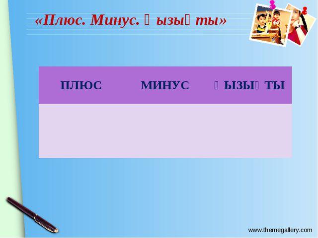 «Плюс. Минус. Қызықты» ПЛЮСМИНУСҚЫЗЫҚТЫ  www.themegallery.com