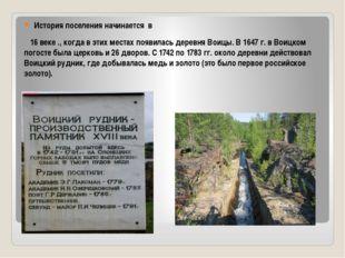 История поселения начинается в 16 веке ., когда в этих местах появилась дере
