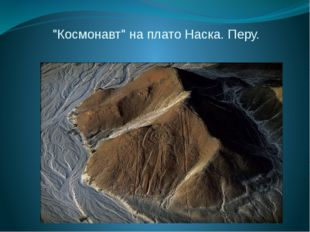 """""""Космонавт"""" на плато Наска. Перу."""