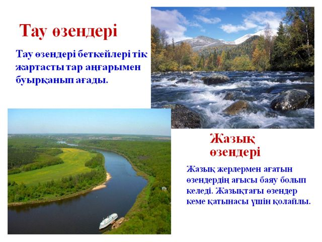 Өзен- өзінің табиғи арнасымен ағып жататынағынды су немесе ағып жатқан тұ...
