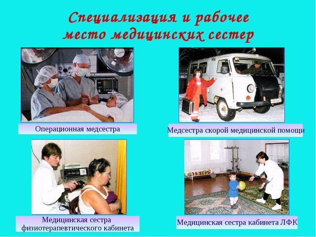 Специализация и рабочее место медицинских сестер Операционная медсестра Медсе...