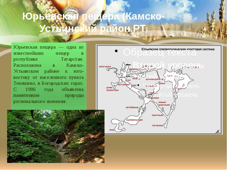Юрьевская пещера (Камско-Устьинский район РТ) Юрьевская пещера — одна из изве...