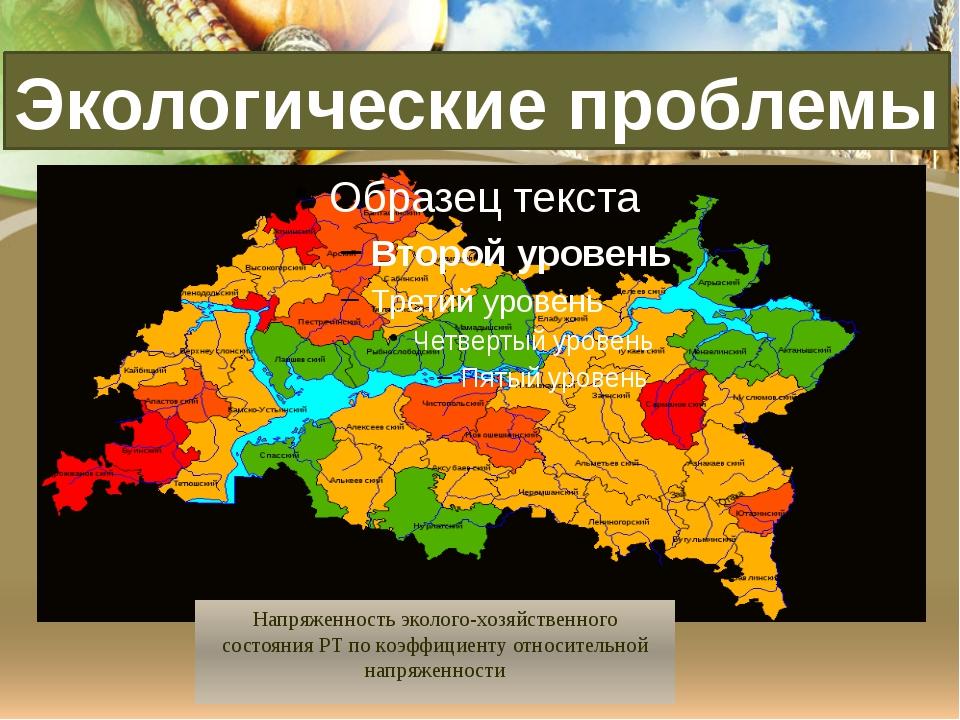 Напряженность эколого-хозяйственного состояния РТ по коэффициенту относитель...