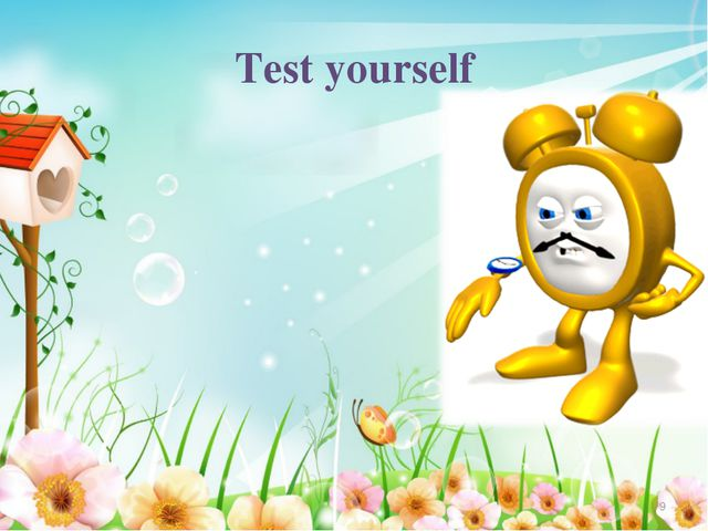 Test yourself *