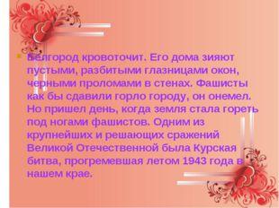 Белгород кровоточит. Его дома зияют пустыми, разбитыми глазницами окон, черны
