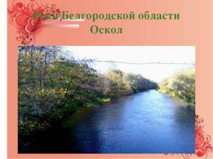 Реки Белгородской области Оскол