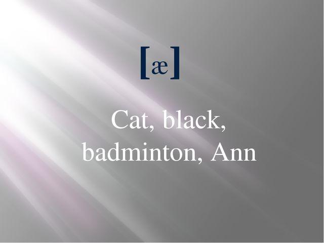 [æ] Cat, black, badminton, Ann