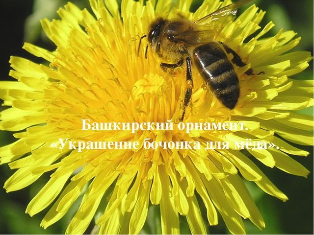 Башкирский орнамент. «Украшение бочонка для мёда».