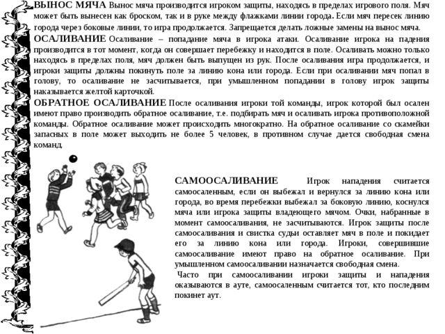 ВЫНОС МЯЧАВынос мяча производится игроком защиты, находясь в пределах игрово...