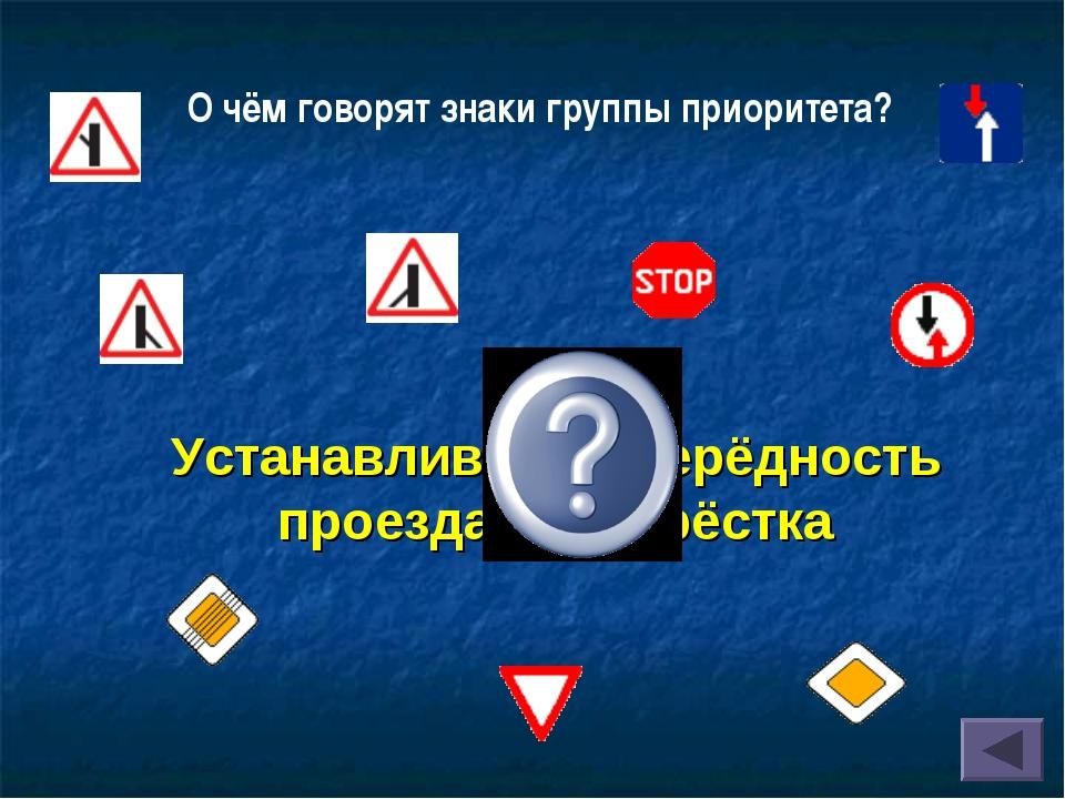 Устанавливают очерёдность проезда перекрёстка О чём говорят знаки группы прио...