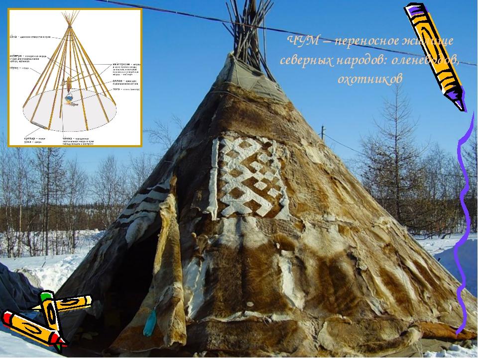 ЧУМ – переносное жилище северных народов: оленеводов, охотников