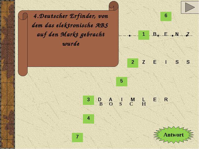 4.Deutscher Erfinder, von dem das elektronische ABS auf den Markt gebracht wu...