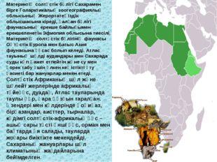 Материктің солтүстік бөлігі Сахарамен бірге Голарктикалық зоогеографиялық обл