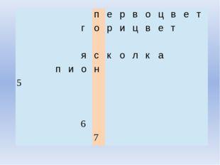 п е р в о ц в е т г о р и ц в е т я с к о л к а п и о н 5 6 7