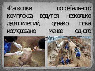 «Раскопки погребального комплекса ведутся несколько десятилетий, однако пока