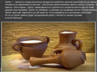 Шубат— является среди молочных продуктов наиболее ценным напитком после кум