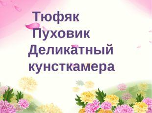 Тюфяк Пуховик Деликатный кунсткамера