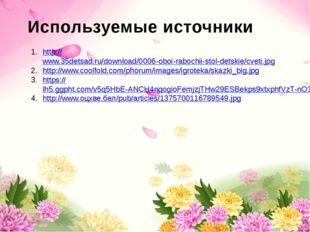 Используемые источники http://www.35detsad.ru/download/0006-oboi-rabochii-st