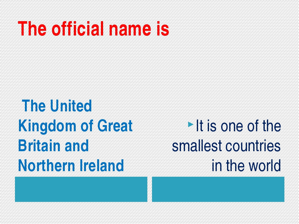The official name is The United Kingdom of Great Britain and Northern Ireland...