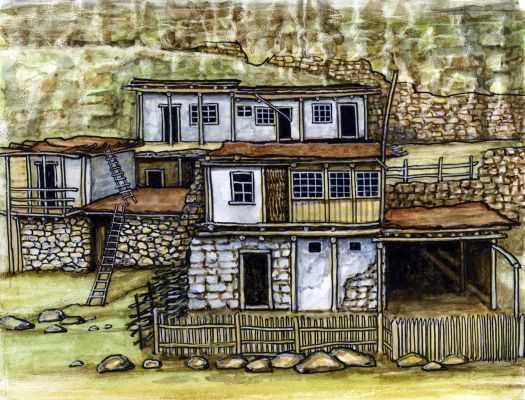 осетинский дом рисунок полип