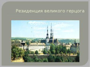 Резиденция великого герцога