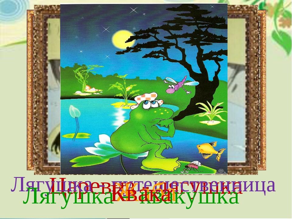 Царевна - лягушка Лягушка - путешественница Жаба Лягушка – квакушка Квака