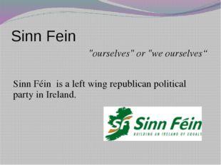 "Sinn Fein ""ourselves"" or ""we ourselves"" Sinn Féin is a left wing republican p"
