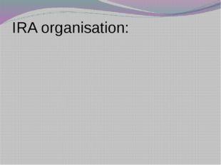 IRA organisation:
