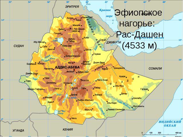 Эфиопское нагорье: Рас-Дашен (4533 м)