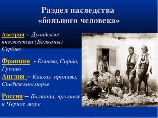 Раздел наследства «больного человека» Австрия – Дунайские княжества (Балканы)