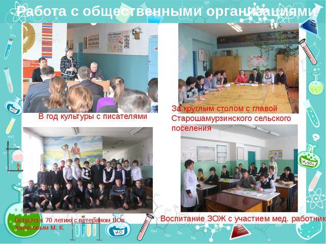 Работа с общественными организациями Встреча к 70 летию с ветераном ВОв Халит...