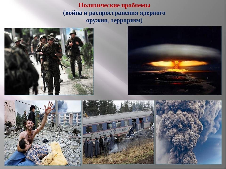 Политические проблемы (война и распространения ядерного оружия, терроризм)