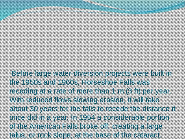 Before large water-diversion projects were built in the 1950s and 1960s, Hor...