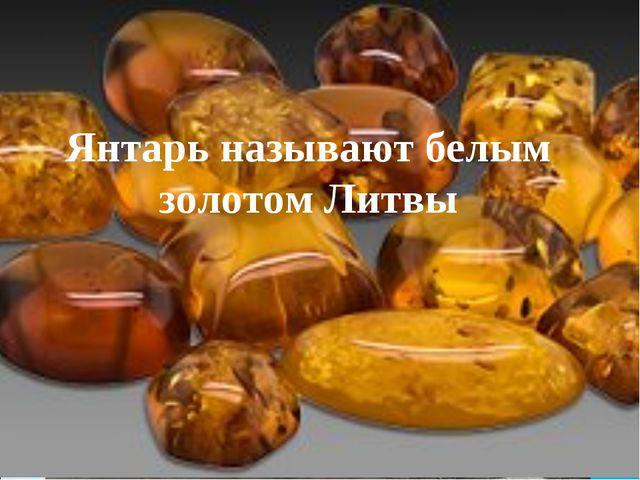 Добыча янтаря Янтарь называют белым золотом Литвы