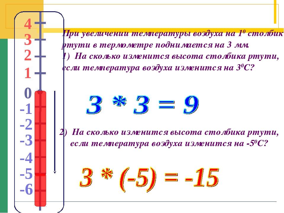 При увеличении температуры воздуха на 10 столбик ртути в термометре поднимает...