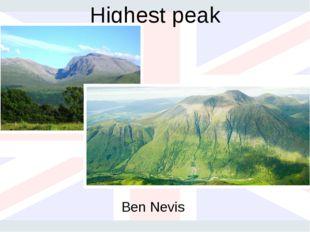 Highest peak Ben Nevis