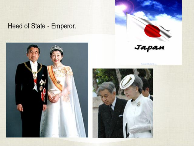 Head of State - Emperor.