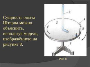 Сущность опыта Штерна можно объяснить, используя модель, изображённую на рису