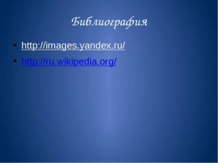 Библиография http://images.yandex.ru/ http://ru.wikipedia.org/