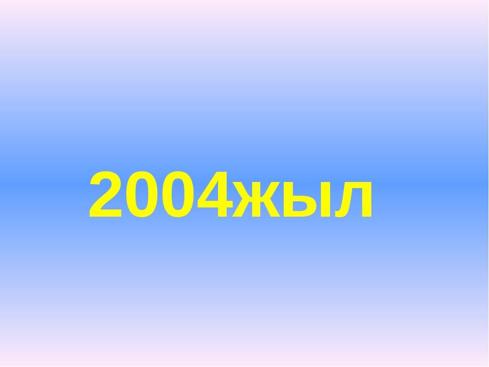 2004жыл