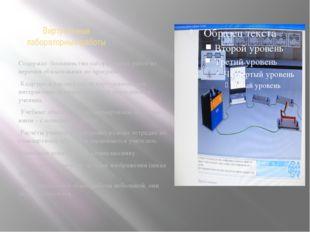 Виртуальные лабораторные работы Содержат большинство лабораторных работ из пе