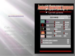 Сайт «Анимация физических процессов» http://www.infoline.ru/g23/5495/physics