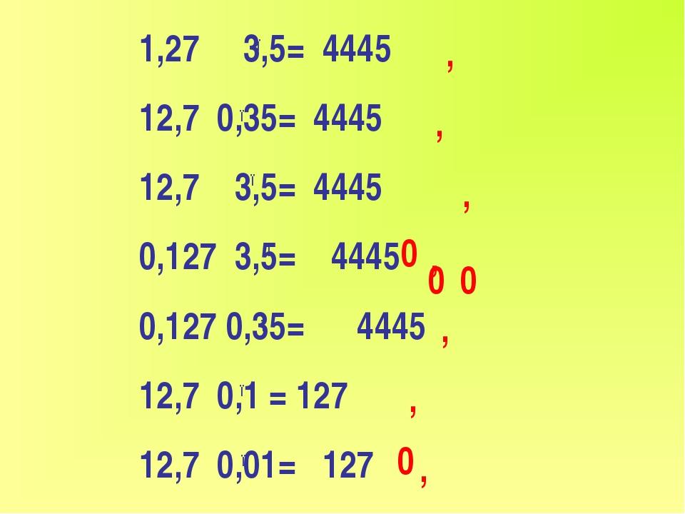1,27 3,5= 4445 12,7 0,35= 4445 12,7 3,5= 4445 0,127 3,5= 4445 0,127 0,35= 444...